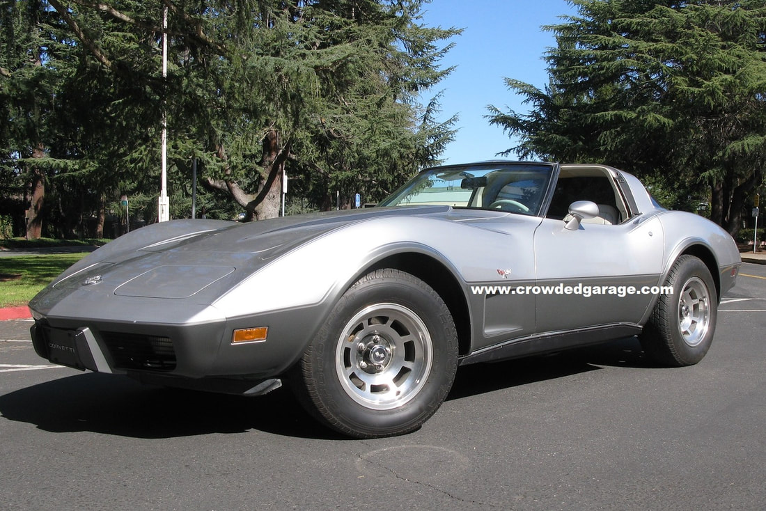 1978 Corvette Silver Anniversary Special Edition two tone gray