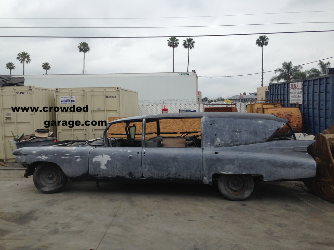 1959 Cadillac Superior hearse Crown Royale Laundulet 3 way loader